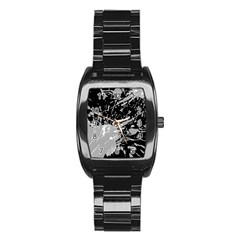 Art About Ball Abstract Colorful Stainless Steel Barrel Watch
