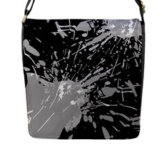 Art About Ball Abstract Colorful Flap Messenger Bag (l)