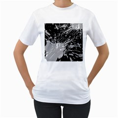 Art About Ball Abstract Colorful Women s T-Shirt (White)