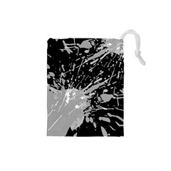 Art About Ball Abstract Colorful Drawstring Pouches (Small)