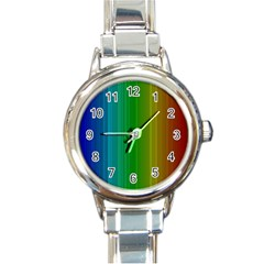 Spectrum Colours Colors Rainbow Round Italian Charm Watch