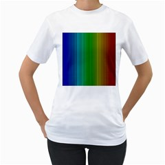 Spectrum Colours Colors Rainbow Women s T-Shirt (White) (Two Sided)
