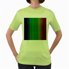 Spectrum Colours Colors Rainbow Women s Green T-Shirt