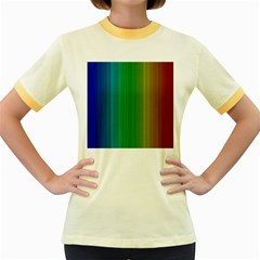 Spectrum Colours Colors Rainbow Women s Fitted Ringer T Shirts