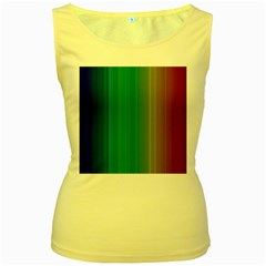 Spectrum Colours Colors Rainbow Women s Yellow Tank Top