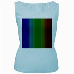 Spectrum Colours Colors Rainbow Women s Baby Blue Tank Top
