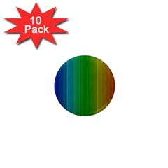 Spectrum Colours Colors Rainbow 1  Mini Magnet (10 pack)