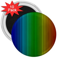 Spectrum Colours Colors Rainbow 3  Magnets (10 pack)