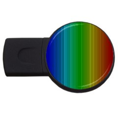 Spectrum Colours Colors Rainbow Usb Flash Drive Round (2 Gb)
