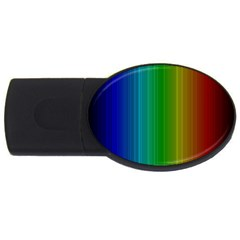 Spectrum Colours Colors Rainbow USB Flash Drive Oval (2 GB)