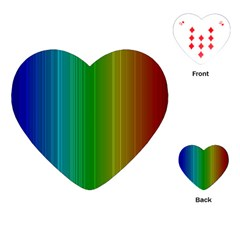 Spectrum Colours Colors Rainbow Playing Cards (Heart)