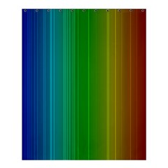 Spectrum Colours Colors Rainbow Shower Curtain 60  X 72  (medium)