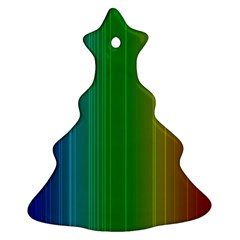 Spectrum Colours Colors Rainbow Christmas Tree Ornament (Two Sides)