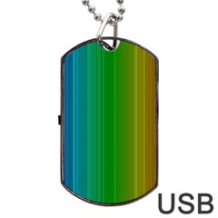 Spectrum Colours Colors Rainbow Dog Tag USB Flash (One Side)