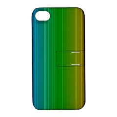 Spectrum Colours Colors Rainbow Apple iPhone 4/4S Hardshell Case with Stand