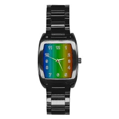 Spectrum Colours Colors Rainbow Stainless Steel Barrel Watch