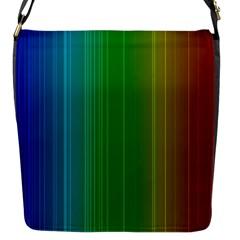 Spectrum Colours Colors Rainbow Flap Messenger Bag (S)