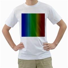 Spectrum Colours Colors Rainbow Men s T-Shirt (White)