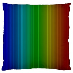 Spectrum Colours Colors Rainbow Large Flano Cushion Case (two Sides)