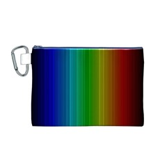 Spectrum Colours Colors Rainbow Canvas Cosmetic Bag (m)