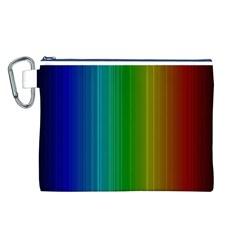 Spectrum Colours Colors Rainbow Canvas Cosmetic Bag (L)