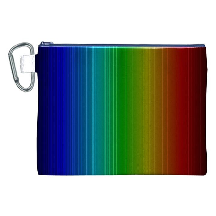 Spectrum Colours Colors Rainbow Canvas Cosmetic Bag (XXL)