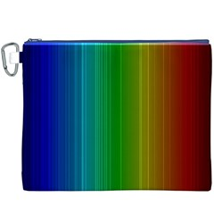 Spectrum Colours Colors Rainbow Canvas Cosmetic Bag (xxxl)