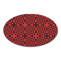 Abstract Background Red Black Oval Magnet