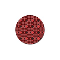 Abstract Background Red Black Golf Ball Marker (4 Pack)