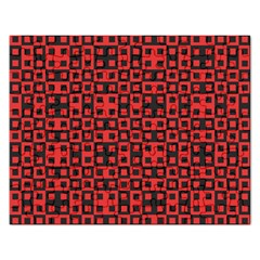 Abstract Background Red Black Rectangular Jigsaw Puzzl