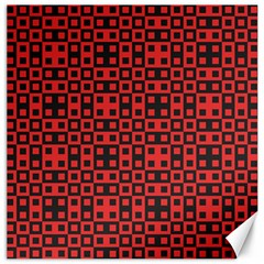 Abstract Background Red Black Canvas 16  x 16