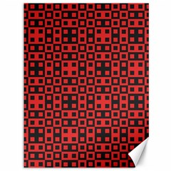Abstract Background Red Black Canvas 36  X 48