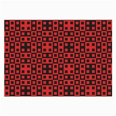 Abstract Background Red Black Large Glasses Cloth (2 Side)