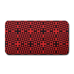 Abstract Background Red Black Medium Bar Mats