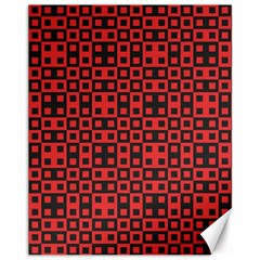 Abstract Background Red Black Canvas 11  X 14