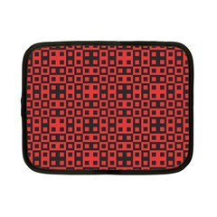 Abstract Background Red Black Netbook Case (Small)