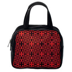 Abstract Background Red Black Classic Handbags (One Side)