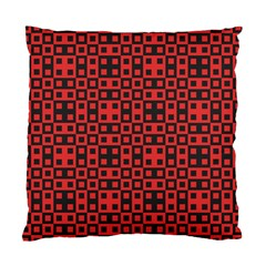 Abstract Background Red Black Standard Cushion Case (One Side)