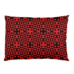 Abstract Background Red Black Pillow Case