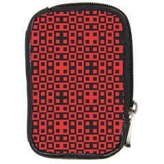 Abstract Background Red Black Compact Camera Cases