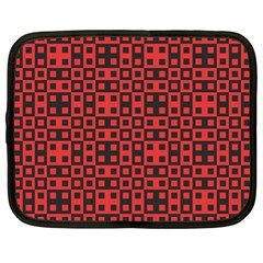 Abstract Background Red Black Netbook Case (XL)