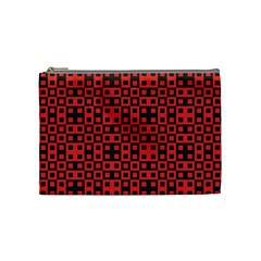Abstract Background Red Black Cosmetic Bag (medium)