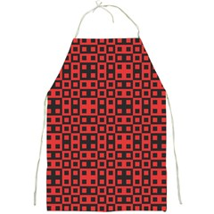 Abstract Background Red Black Full Print Aprons