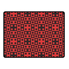 Abstract Background Red Black Fleece Blanket (Small)