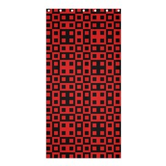 Abstract Background Red Black Shower Curtain 36  x 72  (Stall)