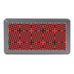 Abstract Background Red Black Memory Card Reader (mini)