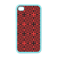 Abstract Background Red Black Apple iPhone 4 Case (Color)