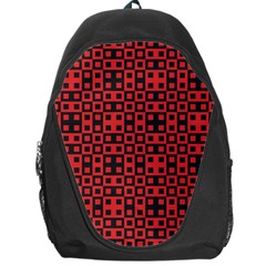 Abstract Background Red Black Backpack Bag