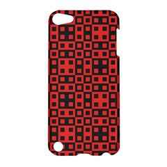 Abstract Background Red Black Apple Ipod Touch 5 Hardshell Case