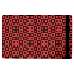 Abstract Background Red Black Apple iPad 3/4 Flip Case